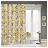 Nobrand No Brand Milan Ikat Print Shower Curtain - Grey/Yellow