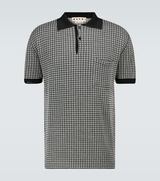Marni Short-sleeved knitted polo shirt