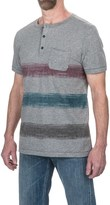 Jeremiah Foster Striped Henley Shirt - Short Sleeve (For Men)