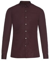 Lanvin Contrast-neckline Cotton Poplin Shirt
