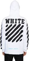 Off-White Spray Stripes Zip-Up Cotton Sweatshirt