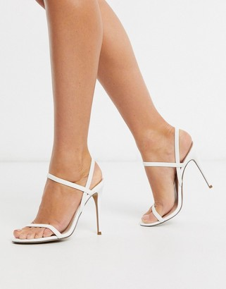 Steve Madden Gabriell strappy heeled sandals in white