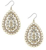 Lucky Brand Lost and Found Openwork Titanium Chandelier Earrings