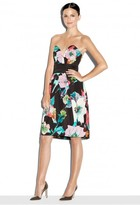 Milly Exclusive Paper Floral Print Luxurious Tuck Dress