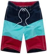Hzcx Fashion Men's Water Sports Surfing Boardshorts Mesh Lining Swim Trunks 2017032903-25-NA-US L TAG 2XL