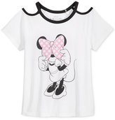 Disney Disney's® Minnie Mouse Cold-Shoulder T-Shirt, Big Girls (7-16)