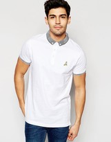 Brave Soul Knitted Contrast Collar Polo Shirt