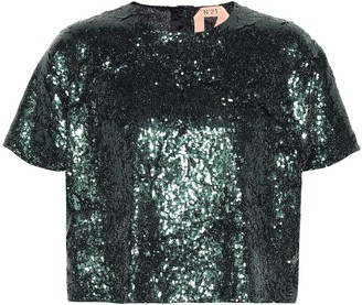 N°21 Sequined top