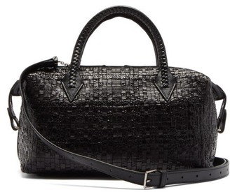 Metier - Perriand City Small Woven-leather Bag - Black
