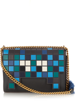Anya Hindmarch Space Invaders Ephson leather shoulder bag
