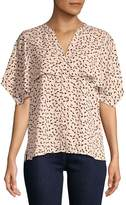 Vince Camuto Women's Multi-Dots Cape Over Top