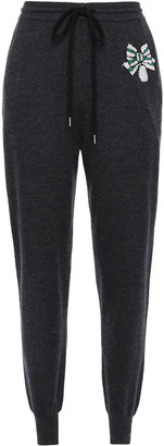Markus Lupfer Sequin-embellished Merino Wool Track Pants