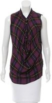 McQ by Alexander McQueen Sleeveless Plaid Top