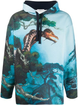 Valentino Dragons Garden relaxed-fit hoodie