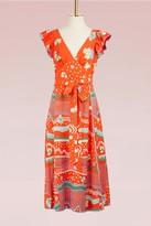 Marc Jacobs Poppy Print Maxi Wrap Dress