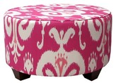 Skyline Furniture Custom Upholstered Round Cocktail Ottoman