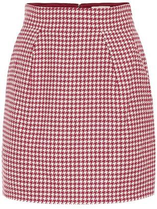Alexandre Vauthier Houndstooth cotton-blend miniskirt