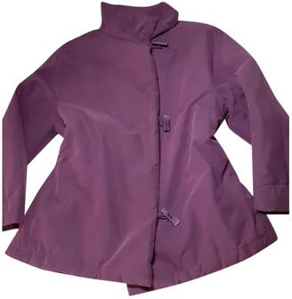 Adolfo Dominguez Burgundy Synthetic Jackets
