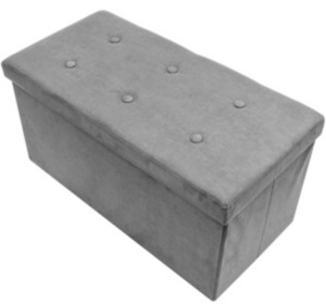 Sorbus Small Suede Foldable Storage Bench
