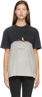 Alexander Wang Grey Match Graphic T-Shirt