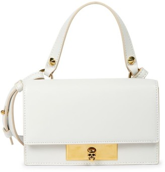 Alexander McQueen Small Skull Lock Leather Top Handle Bag