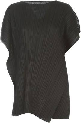 Pleats Please Issey Miyake S/s Asymmetric Wide Dress