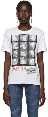 Versace White Richard Avedon Edition Polaroid T-Shirt