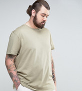 Asos PLUS Longline T-Shirt With Crew Neck