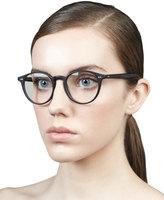 Oliver Peoples Elins Round Fashion Glasses, Matte Black
