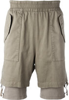Helmut Lang layered cuff shorts - men - Cotton/Spandex/Elastane/Viscose - M