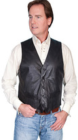 Scully Men's Lambskin Contemporary Vest 122 Long