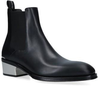 Alexander McQueen Metal Heel Chelsea Boots