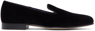 Ralph Lauren Purple Label Black Velvet Alonzo Slippers
