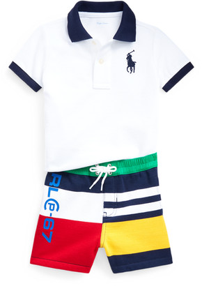 Ralph Lauren Polo Shirt & Fleece Short Set