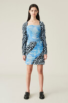Thumbnail for your product : Ganni Ruched Jersey Patchwork Mini Skirt
