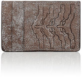 Alexander McQueen Men's Rib-Cage-Embossed Card Case-SILVER