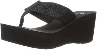 NOMAD Women's Tide Wedge Sandal Black 6 M US