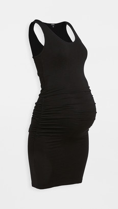 Monrow Maternity Supersoft Shirred Dress