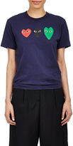 Comme des Garcons Women's Playful Heart T-Shirt-NAVY