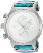 Vestal 'Metronome' Quartz Stainless Steel Dress Watch, Color:Silver-Toned (Model: METCA06)