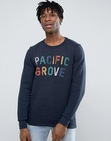 Pull&Bear Sweatshirt With Pacific Grove Slogan