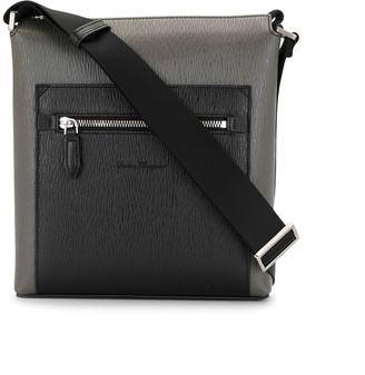 Salvatore Ferragamo Two-Tone Messenger Bag