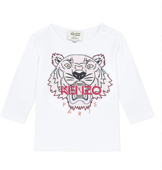 Kenzo Girl's Tiger Graphic Long-Sleeve T-Shirt, Size 6-18 Months