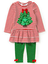 Starting Out Baby Girls 12-24 Months Christmas Ribbon Tree Tunic and Leggings Set