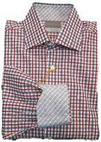 Thomas Dean Men's 2 Button SPRD Collar Check