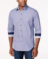 Tasso Elba Medallion-Print Long-Sleeve Shirt, Created for Macy's