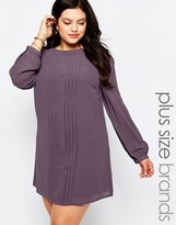 Koko Plus Shift Dress With Pleat Front