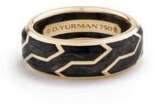 David Yurman 18K Yellow Gold Band Ring