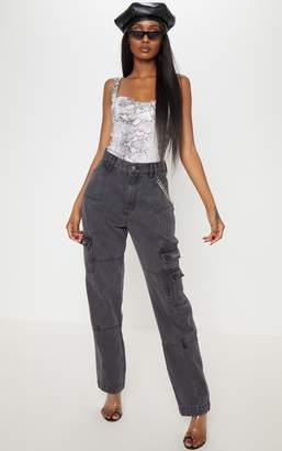 PrettyLittleThing Black Combat Jeans