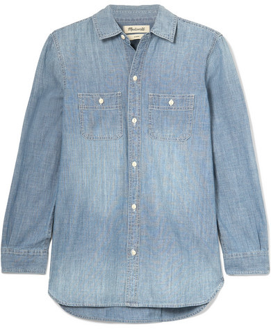 Madewell Ex-boyfriend Cotton-chambray Shirt